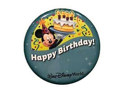 Happy Birthday Button (Walt Disney World,  Happy Birthday Button Pin,Badge Mickey)