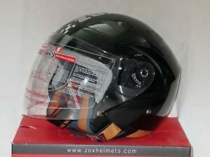 Motorcycle / Scooter DOT helmet - ZOX  Black - street legal