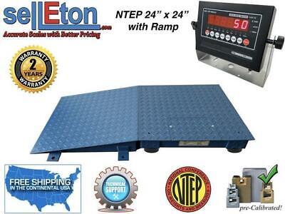 Floor Scale Ntep 1 Ramp 24 X 242 X 2 10000 Lbs X 2 Lb With Led Display