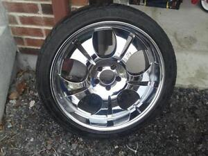 20 INCH CHROME MAGS - FITS ON CHRYSLER 300, CHARGER, MAGNUM