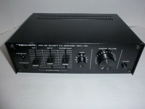 REALISTIC MPA-25 AMPLIFIER