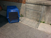 2 Large Breed Dog Crate & Cage