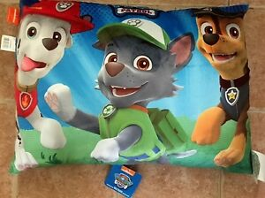 NEW Paw Patrol Bed Pillow never been used