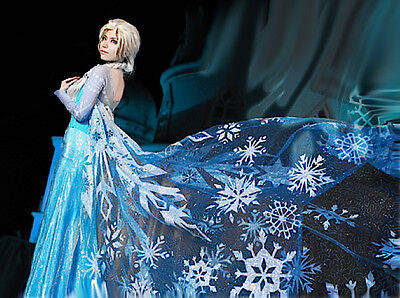 Frozen - Kleidung Karneval Elsa Frau - Dress Up Elsa Kostüme Frau - Frozen Dress Up Kostüm
