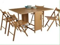 Fold up set of table and chairs