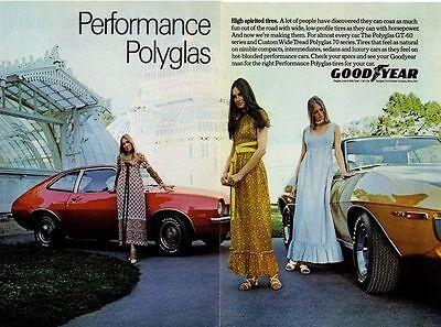 1971 AMC JAVELIN / FORD PINTO  ~  ORIGINAL 2-PAGE GOODYEAR AD