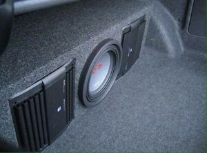 Car audio installation and equipment