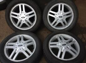 "Ford Focus 15"" alloy wheels and tyres"