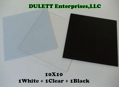 Студийные отражатели 3 White, Black, Clear
