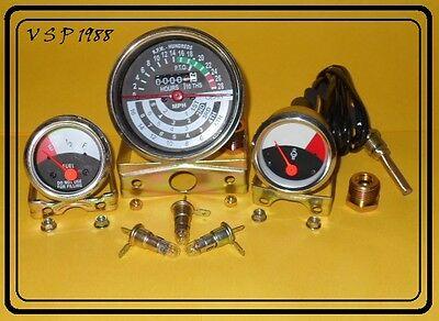 John Deere Tractor Tachometer Temperature Fuel Gauge Set 1010