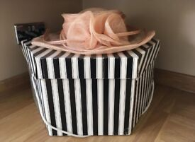 Dusky Pink Hat and Hat Box