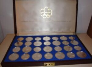 1976 monnaie olympique 28 olympic coin set complete silver coins