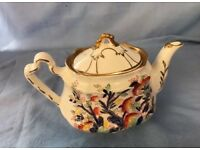 Vintage Arthur Wood 'Antique' Pattern Teapot With 14K Gold Decoration