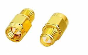 SMA Male Plug to RP- SMA Female  Adapter /Coaxial Connector - UK Seller