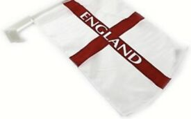 England World Cup Car flags 144 flags per box.
