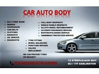 CAR SERVICE/RESPRAYING/TYRES FITTING