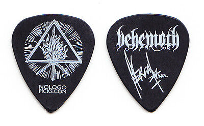 "Behemoth Adam ""Nergal"" Darski Signature Black Guitar Pick - 2015 Tour"