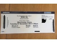 3rd Row WWE Smackdown Ticket Wrestling TV Taping - 3rd Row ringside! Manchester 07/11/17