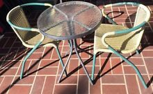 Outdoor glass table and chairs set Carlingford The Hills District Preview