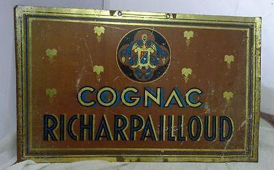 altes Blechschild Richarpailloud Cognac