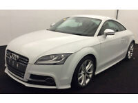 White AUDI TTS COUPE 1.8 2.0 TFSI Petrol QUATTRO BLACK EDITION FROM £83 PER WEEK