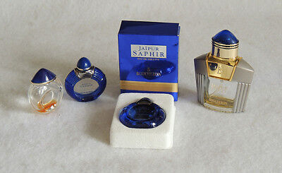 Lot of 4 Boucheron Miniature Perfume Bottles One With Box.. Jaupur Empty Bottles