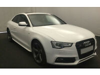 White AUDI S5 COUPE 3.0 Petrol QUATTRO BLACK EDITION S-T FROM £135 PER WEEK!