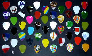 50 Guitar Picks :One-of-A-Kind : Various colors/designs/pictures Cambridge Kitchener Area image 1