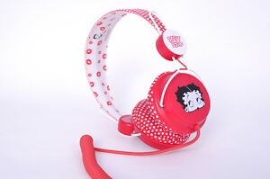 NEW-COLOUD-BETTY-BOOP-RED-WHITE-POLKA-DOT-DJ-HEADPHONES-IPOD-IPHONE-MP3-PLAYER