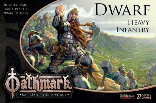Oathmark OAKP102 Dwarf Heavy Infantry (30 Plastic Figures) Dwarves Warriors NIB
