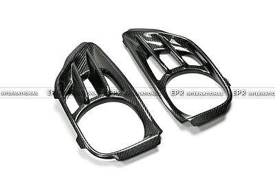 N.1 2Pcs Exhaust Suround Heat Shield For Nissan R35 GTR  AS Style Carbon Fiber