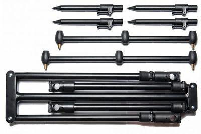 Saber Supra Carp Fishing Rod Pod 3 Rod Set Up & Carry Case Carp Tackle