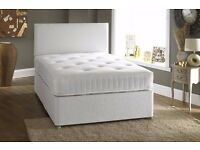 CASH ON DELIVERY -- BRAND NEW SINGLE/DOUBLE DIVAN BED BASE INCLUDING MEMORY FOAM MATTRESS