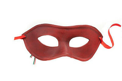 Mask Leather from Venice Colombine Red Authentic Carnival Venetian 422