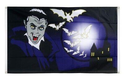 AHNE Halloween Vampir und Fledermäuse Flagge Fahne für den B (Fledermäuse Für Halloween)