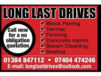 Long last drives steam cleaning and sealing specialist power washing roofs driveway walls