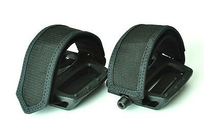 [US SELLER] Big Plateform Pedals and Straps for Fixed Gear MBT BMX Bike Bicycle