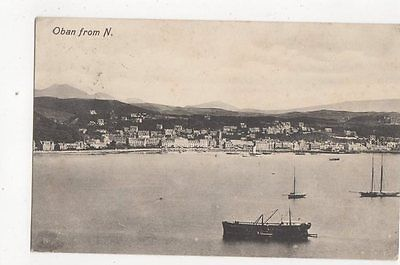 Oban From North 1912 Postcard  162a