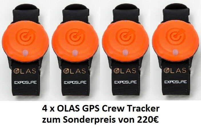 4 x OLAS GPS Crew Tracker Armband Sender Ortungsgerät für Haustiere Yacht Boot