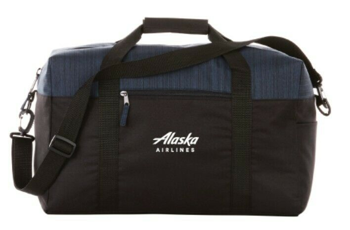 Alaska Airlines Duffel with Rear Strap, Carry-on, Large Gym Bag, Weekend Bag