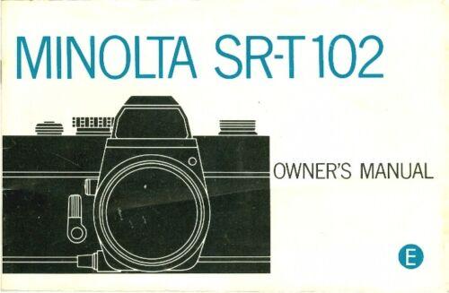 Beautiful Minolta SRT-102 Owner