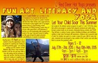 Yoga, Art and Literacy at Red Deer Hot Yoga