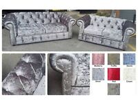 Brand new, HAND MADE chesterfield velvet sofas******Available in vaious colours**FREE DELIVERY