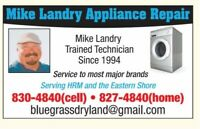 Mike Landry Appliance Repair-HRM, including the Eastern Shore