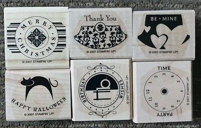 Party Punch Halloween (Stampin' Up PARTY PUNCH Set 6 Rubber Stamps Lot Christmas Birthday Halloween)