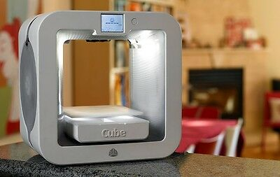 New 3D Systems Cube 3D Wireless Printer  3Rd Generation  White  Windows And Mac