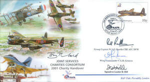 2001 JSCC signed and flown RAF cover - VERY RARE!