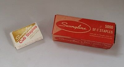 2 Boxes Vintage Swingline Staples Usa