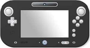 Black Soft Silicone Cover Nintendo Wii U Gamepad Protective Case Skin