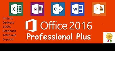 Microsoft Office 2016 Professional  Plus 1 Pc Download Link Key Instant Delivery